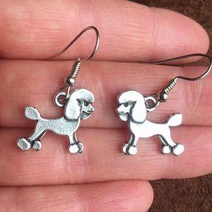 Jewelry - 🐩 Silver Poodle Earrings 🐩